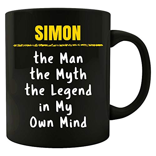 SIMON Man Myth Legend in My Own Mind Sarcastic Funny Saying Name Pride Gift - 15 Ounce Ceramic Coffee Mug