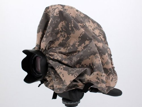 Digital Camo Camera Rain Cover For Cameras with lens combos up to 13