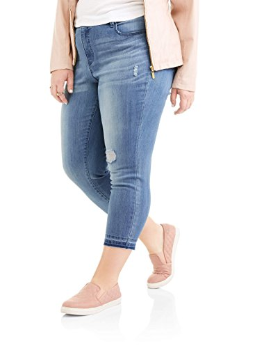 (Faded Glory Women Plus Slim Boyfriend W/Tummy Control 26W)