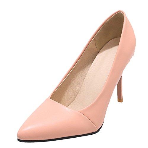 Charme Voet Dames Mode Puntschoen Jurk Hoge Hak Pumps Schoenen Roze
