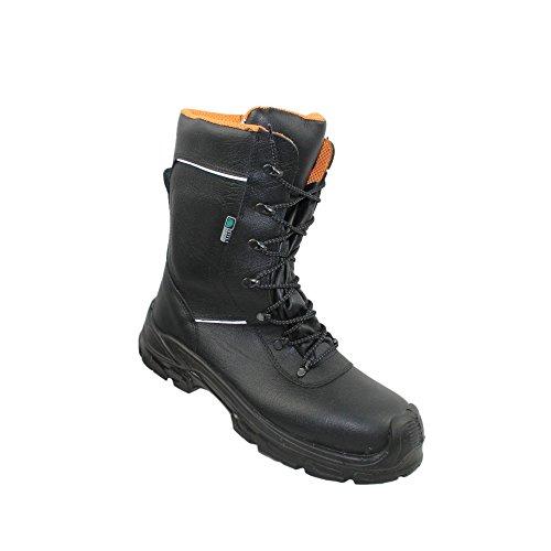 Sécurité Siili - Chaussures De Protection Homme Noir En Cuir Noir, Couleur Noir, Taille 42