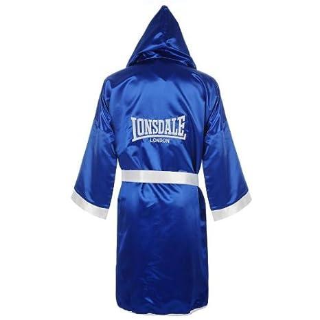 Lonsdale Contest Bata de Boxeo, Negro/Blanco, L: Amazon.es: Deportes y aire libre