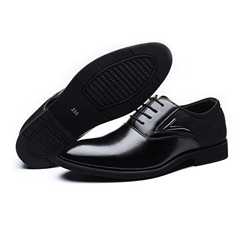 fodera Pelle Canvas lavoro Up uomo Dimensione Uomo Smooth shoes amp; da da Xiaojuan Fodere in PU formali traspirante EU Scarpe Upper 48 Scarpe Nero Lace Splice Color Marrone 0wtxTt1
