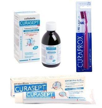 CURASEPT DENTIFRICO CLOREXIDINA 0,12 + CURASEPT ADS 012 ENJUAGUE BUCAL 200 ML + 1