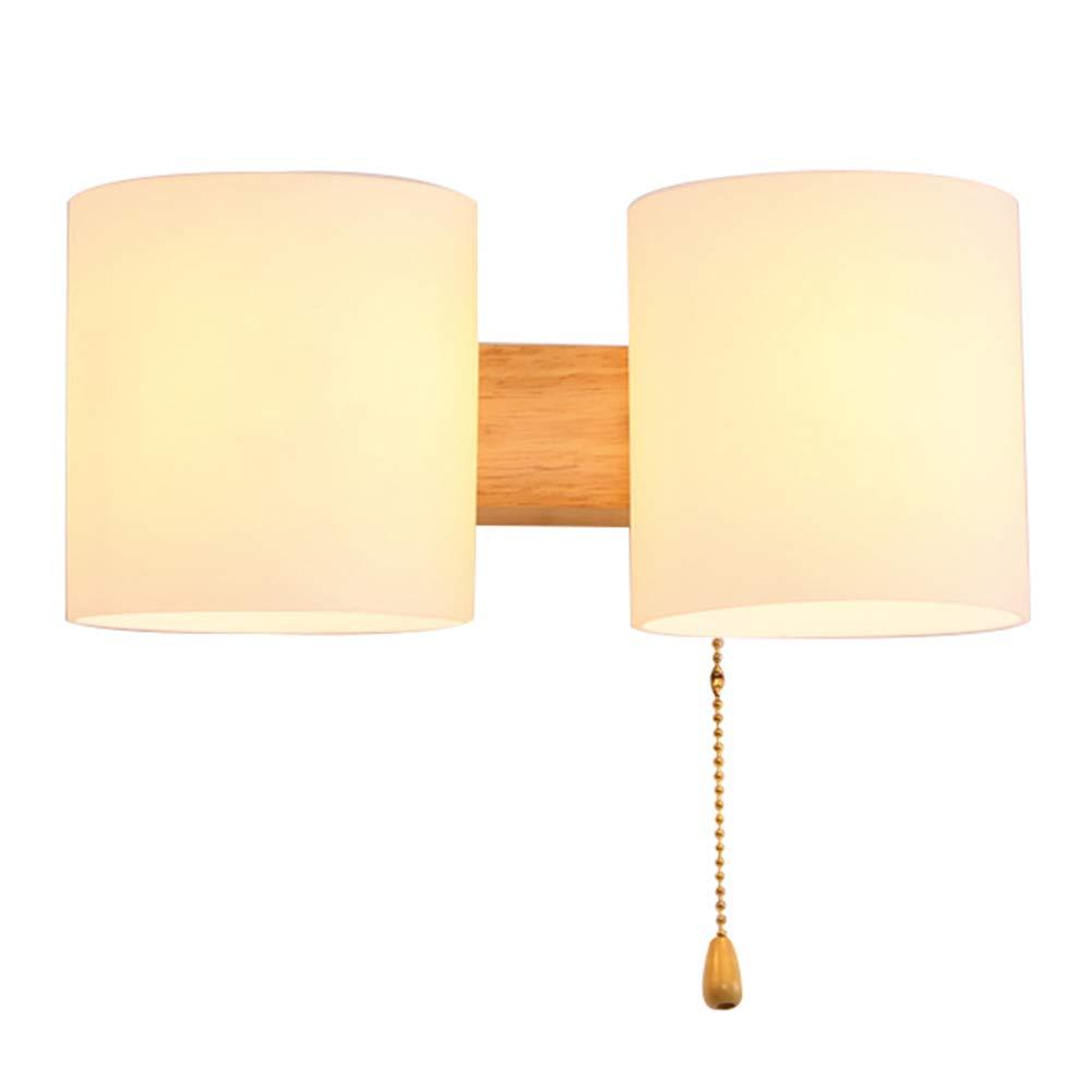 Umweltschutz Massivholz Wandleuchte Wandlampe Leuchte Holz-Leuchte modern Holzlampe Wand hölzernes Schlafzimmer-Bett-Kopf-Wand-Sconce Wand-Lampe einfaches Wohnzimmer-Gang-Balkon-Lampe,2lights