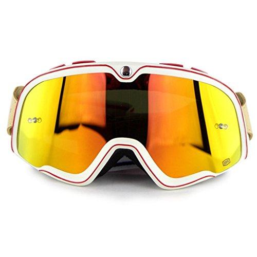 a Libre Aire Gafas a PC Montañismo Impermeable y a de Prueba Material de Polvo Caballo esquí Prueba explosiones A Montar al qYY4a6