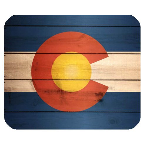 Colorado State Flag Wood Pattern Non-Slip Rubber Mousepad Gaming Mouse Pad Mat