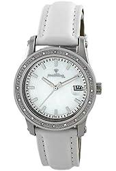 "JBW Women's JB-6224L-H ""Starlight"" 0.20 Carat White Leather Band Diamond Watch"