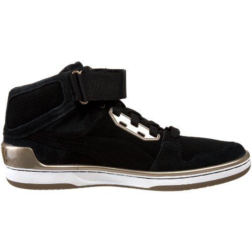 Puma Heren Royal Evo Perf Hi Sneaker Zwart / Metallic Dark Copper