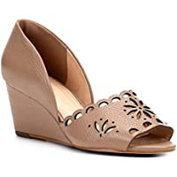 Peep Toe Couro Shoestock Flor