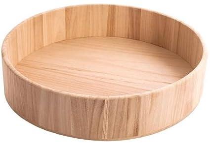 Bandeja madera de balsa redondas grandes 34x7,5cm.