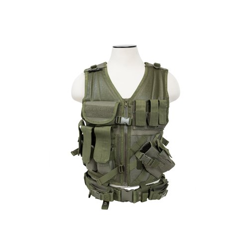 VISM by NcStarTactical Vest/Green, adjustable small/medium