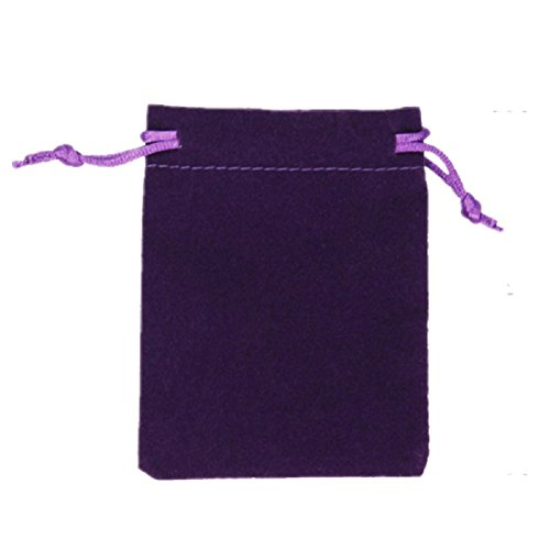 KUPOO 50 Pieces Wholesale Lot Velvet Pouches with drawstrings,pouches bags 3 X 4 Inch (Purple) from KUPOO