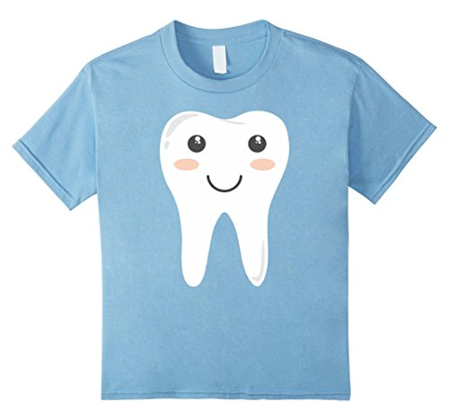 Children's Tooth Fairy Costume (Kids Tooth Fairy T-Shirt Cute Halloween Costume Tee 4 Baby Blue)