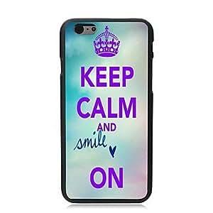 YULIN mantener la calma y la sonrisa un estuche duro de diseño para el iphone 6 más