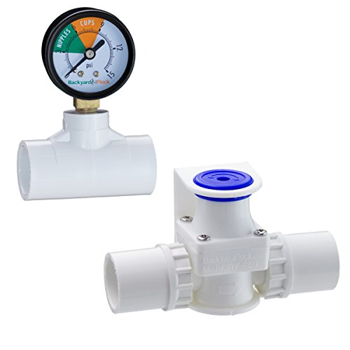 pressure regulator with gauge for backyard flock automatic poultry watering system pet bed. Black Bedroom Furniture Sets. Home Design Ideas