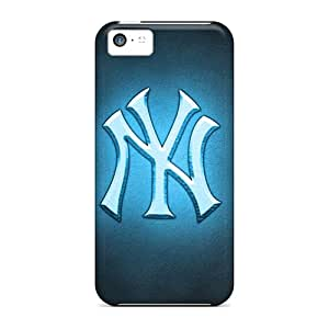 RitaSokul Iphone 5c Scratch Resistant Cell-phone Hard Covers Allow Personal Design HD New York Yankees Series [afh19013ETbJ]