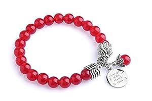 Bella.Vida Women Birthstone Bracelet Crystal Beads Tibetan Silver I Love You to The Moon and Back Charms
