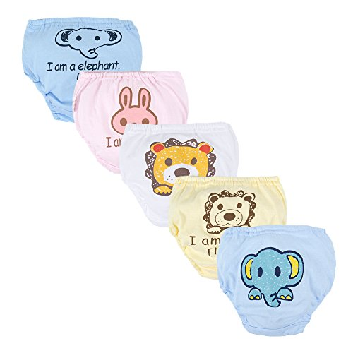 BIG ELEPHANT 5 Pieces/Pack Baby Boys' Toddler Cute Toilet Training Pants...