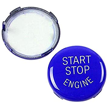 Azul E87,E90//E91//E92//E93,E60 1 3 5 Series XZANTE Reemplazo de La Cubierta del Interruptor de Encendido del Bot/ón de Arranque del Motor de Parada para BMW X1 X3 X5 X6 Z4 E84,E83 Etc