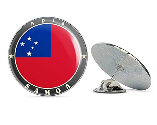 Pins Lapel Samoa (Apia Samoa Round Metal 0.75