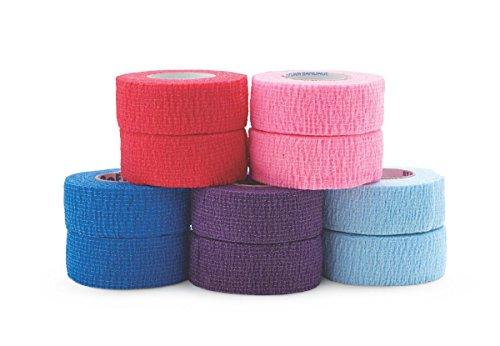 Medline Premium Co-Flex Quick-Stick Cohesive Flexible Elastic Bandage, Self-Adherent Compression Wrap, Latex Free, 1
