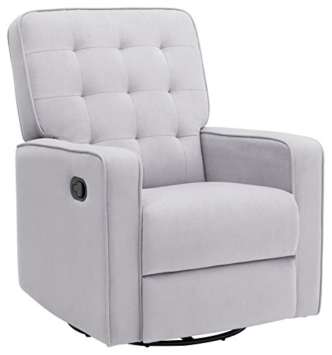 Delta Children Gavin Nursery Glider Swivel Recliner Featuring LiveSmart Fabric by Culp, Linen