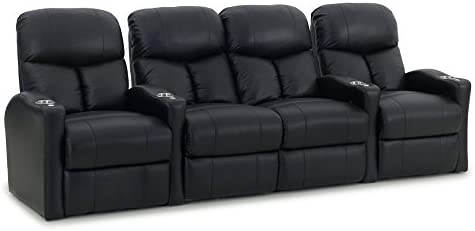 Octane Seating Octane Bolt XS400 Motorized Leather Home Theater Recliner Set Row of 4