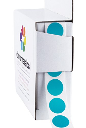 """1/2"""" Removable Teal, Color-Code Dot Stickers 