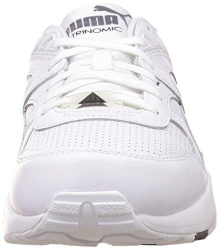 01wht Herren De Blanc Chaussures 01 Base Gris wht Sport Cuir R698 Weiss Puma PwwF6xdq