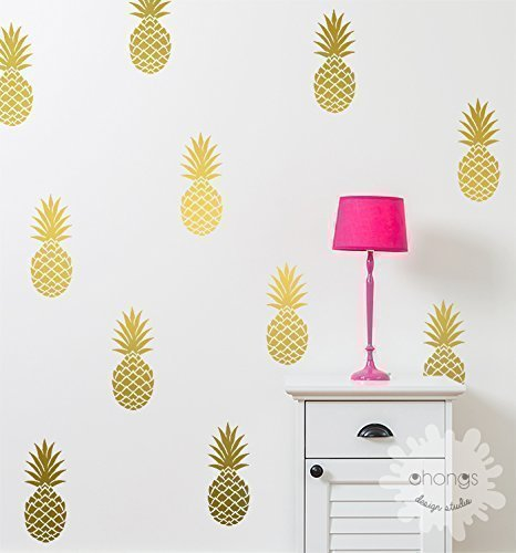 A pineapple in the room / Wall Decal / Large Pineapples Sticker / Home decor / Party Decor / Nursery Wall Decal / Tropical / Removable / gift