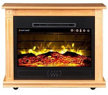 Amazon.com: Heat Surge Roll-N-Glow EV-5 Electric Fireplace in Golden Oak: Home & Kitchen
