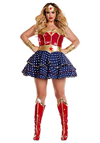 Party King Women's Plus Size Wonderful Sweetheart Costume, Red/Multi, 2X-Large