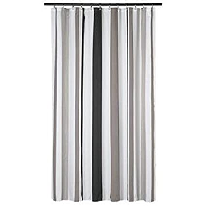 650dde2456ca2 Amazon.com: Extra Long Shower Curtain 72 x 78 Inch Gamma Gray And ...