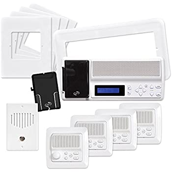 intrasonic technology retro mv4pac ist retro music intercom system package white. Black Bedroom Furniture Sets. Home Design Ideas