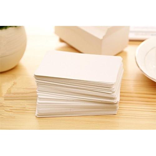 Papier Kraft Vierge Fecedy 100 Pices Cartes De Visite Word Carte