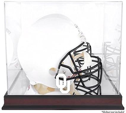 Oklahoma Sooners Mahogany Logo Helmet Display Case