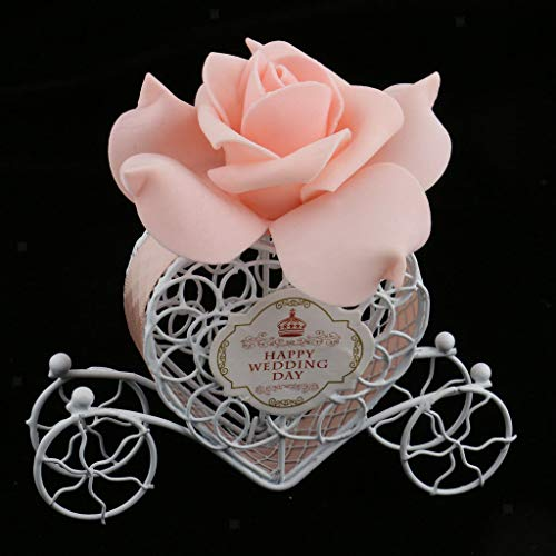 BROSCO Love Heart Carriage Box Sweets Chocolate Candy Box Party Gift Favor Table Decor | Color - Nude