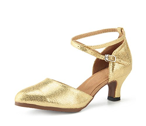 Miyoopark Ankle Gold 6cm Shoes Leather Pumps Evening Heel Dance Comfortable Latin Womens Strap Hr6SgAqH