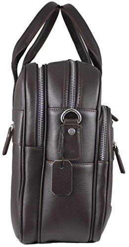 Zavelio Hombres de Anton lujo cuero auténtico Negocio Maletín Bolso Bandolera negro negro talla única marrón