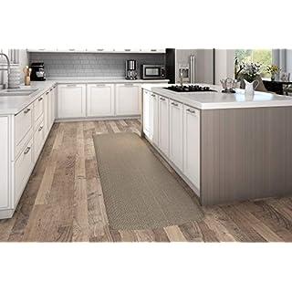"NewLife by GelPro Decorative Foam Floor Mat, 30"" x 108"", Grasscloth Pecan"