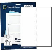 "Sticker Paper, Full-Sheet Labels, All Purpose 8.5"" x 11"" White Matte, Laser Or Inkjet Printing, Vertical Back-Slit, 25 Labels"