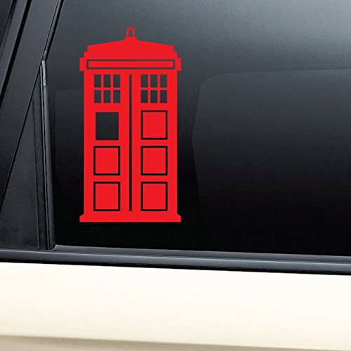 Tardis Vinyl Decal Laptop Car Truck Bumper Window Sticker - (Bad Wolf Dr Who Costume)