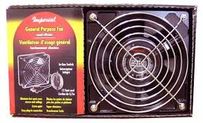 Imperial General Purpose Quiet Circulating Fan for Stove Hot Spots Smoker Circulator Fan (BBQ Pizza Oven Air Blower Motor Pellet Wood Stove Parts) (Pizza Oven Parts compare prices)