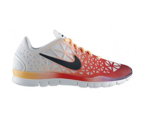 NIKE Free TR Fit 3 Dye Ladies Training Shoes, White/Orange, US10 (Training White Ladie)