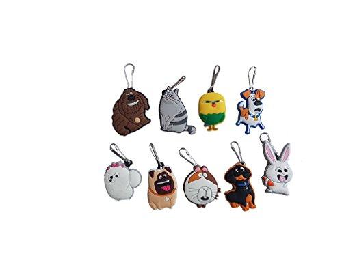[AVIRGO 9 pcs Metal Clothes And Bags Decoration Zipper Pull Keyring Carabiner Set # 118 - 2] (C Viper Costumes)