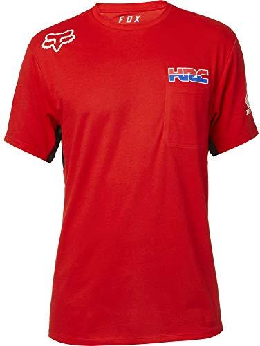 Honda Team T-shirt - Fox Racing Men's HRC Airline S/S Shirts,Small,Red