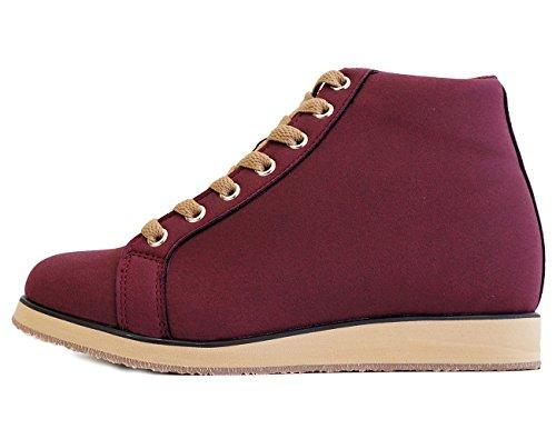 Mnx15 Zapatos Elevadores Para Mujeres Altura AuHombrestada 3.1 Monaco Púrpura Púrpura