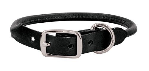 Weaver Leather Briarwood Rolled Collar, 3/4 x 17-Inch, Black
