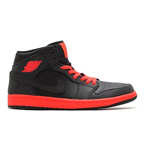 [ナイキ] エア ジョーダン Air Jordan 1 Mid Black Infrared ブラック レッド 554724-043 [並行輸入品] B0748HV1BH  30.0 cm
